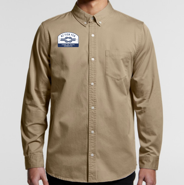 NZ Fish Fed Shirt Khaki