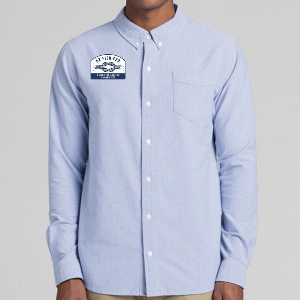 NZ Fish Fed Shirt Light Blue