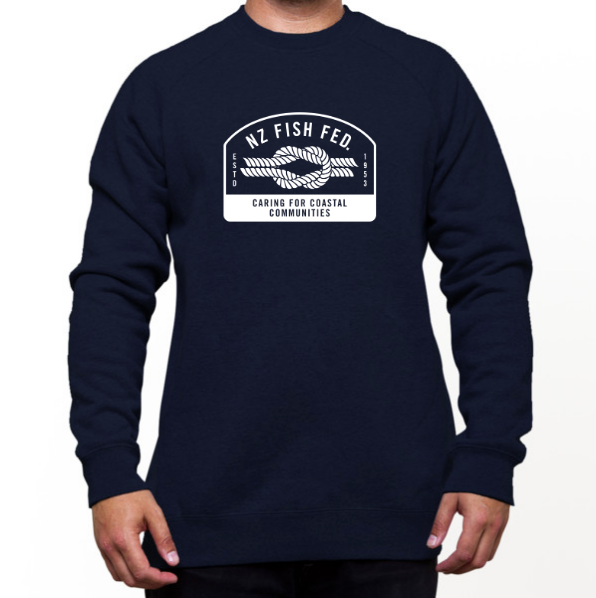 NZ Fish Fed Men's Sweatshirt Reverse Logo